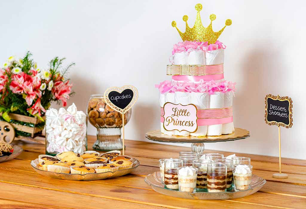 Diaper-themed baby shower food ideas