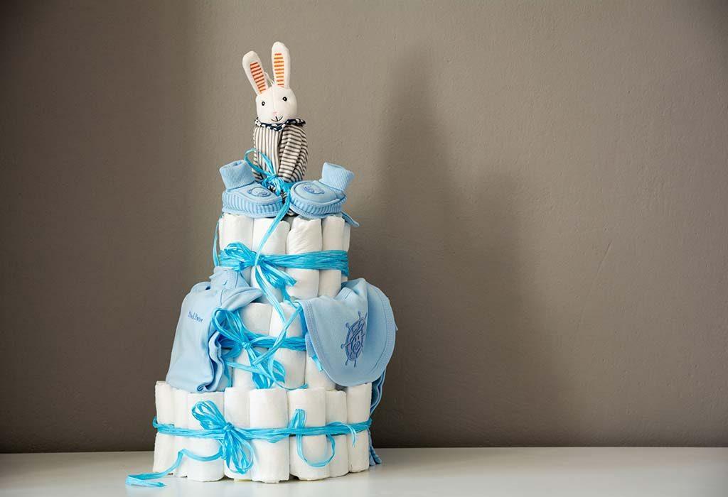 Diaper-themed Baby Shower Cake Ideas