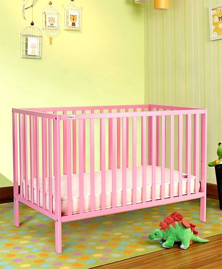 Babyhug Visby Wooden Cot