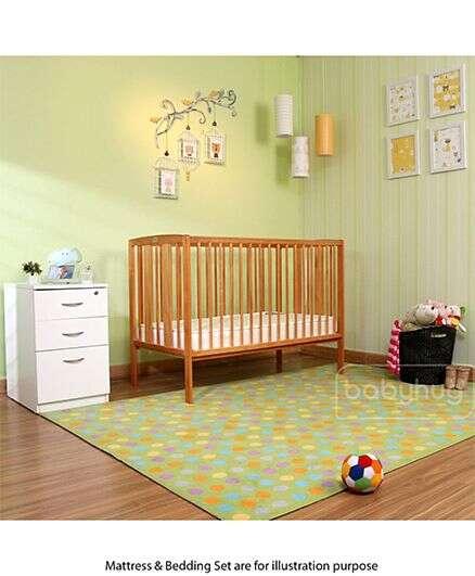 Babyhug Malmo Wooden Cot