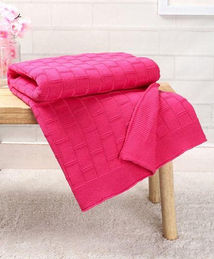 Babyhug Premium Cotton All Season Knitted Blanket