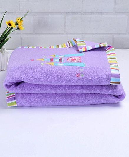Babyhug Premium Fleece Baby All Seasons Blanket Princess Theme
