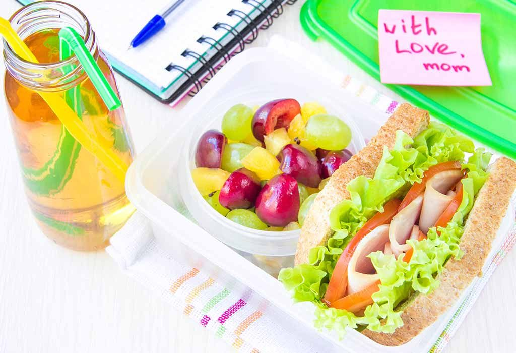 lunch box with note