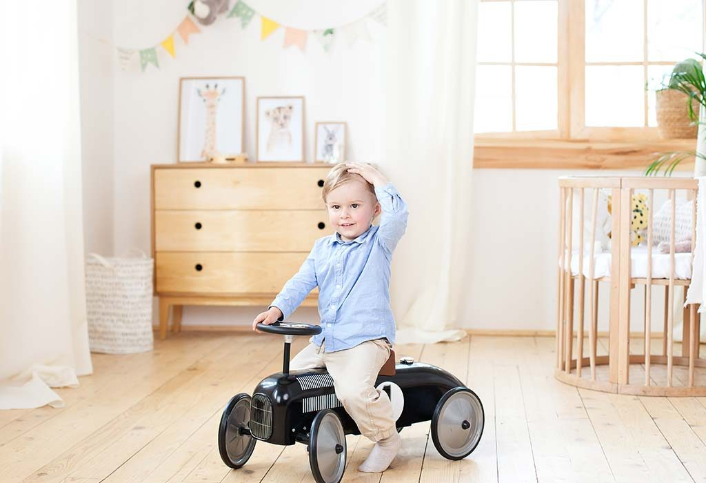 Baby on his ride-on toy