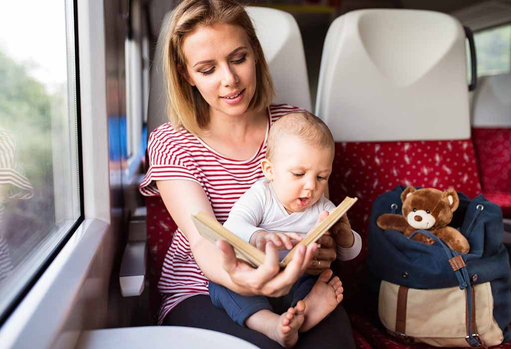 mother travelling with baby
