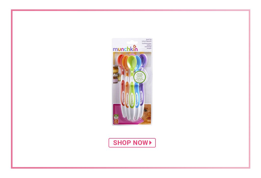 Munchkin Infant Soft Tip Spoons Multicolour - Pack of 6