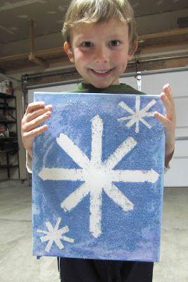 Kid Friendly Snowflake Painting - Step By Step Guide