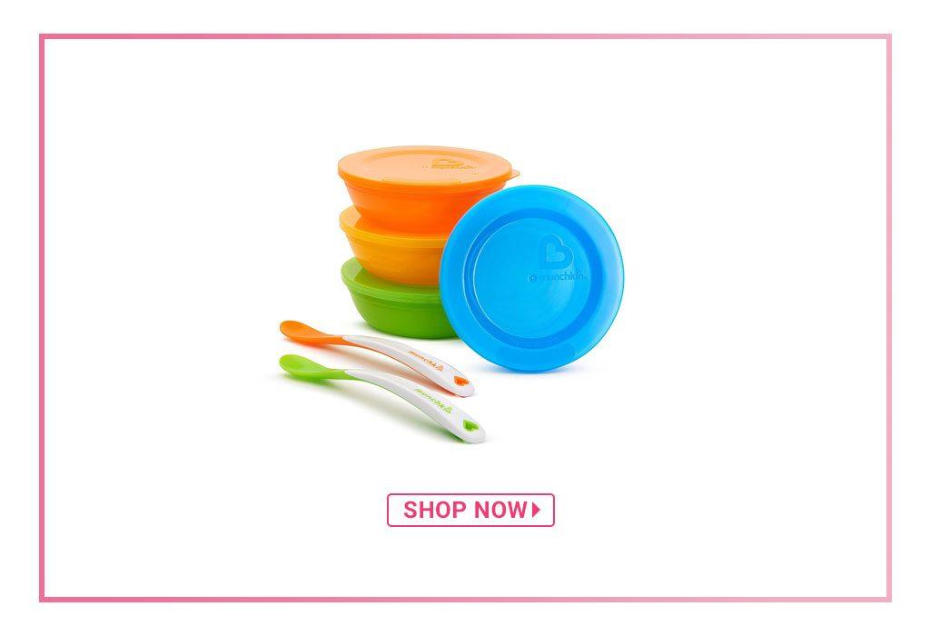 Munchkin Feeding Bowls And Spoons Set – Multicolour