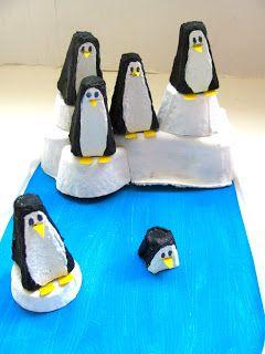 Penguin Egg Carton Craft