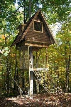 DIY Cargo Net Treehouse