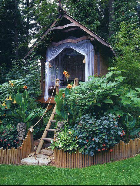 DIY Kids Garden Treehouse