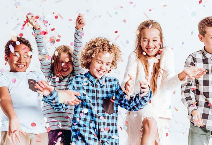 kids enjoying a valentine's day party