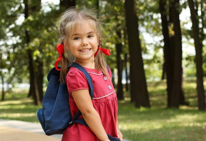 toddler excited for school
