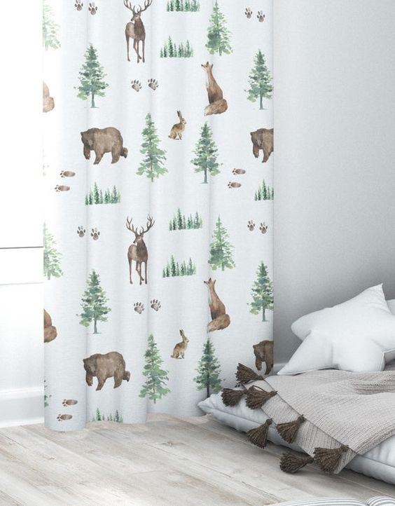 Woodland Nursery Curtain