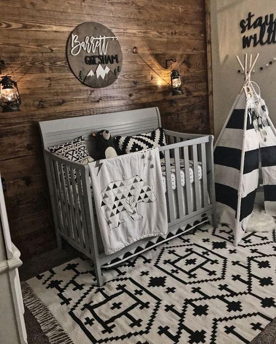 Black and White Woodland Nursery Ideas