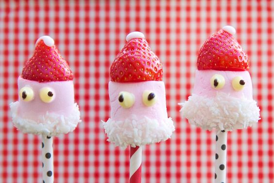 Strawberry Pops Santa