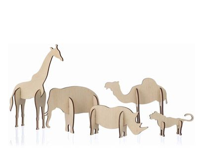 Cardboard animal crafts