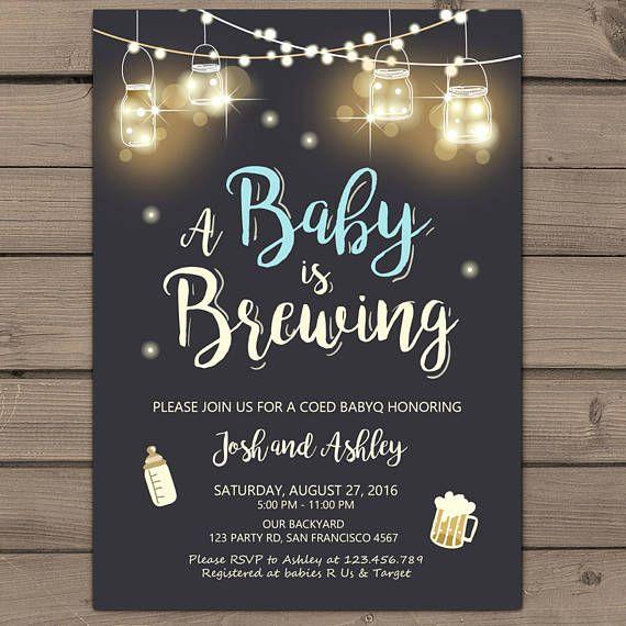 Co-ed BBQ Baby Shower Invite