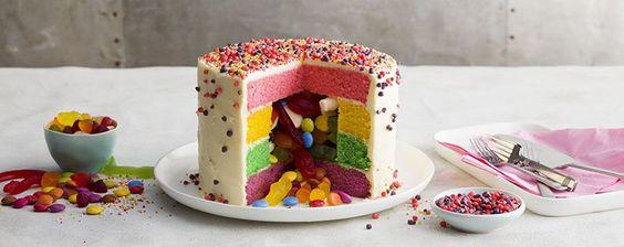Gender Reveal Pinata Cake
