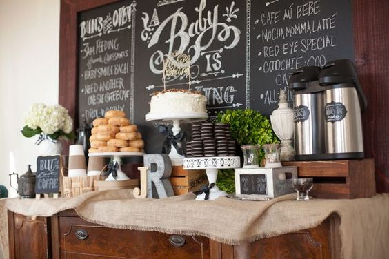 Coffee Craving Themed Baby Shower For Girl