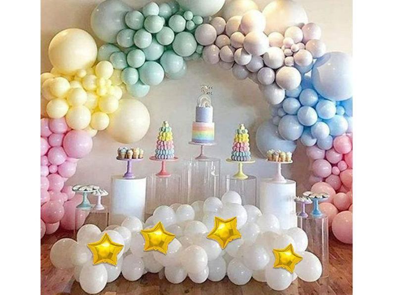 Raibow baby shower decoration