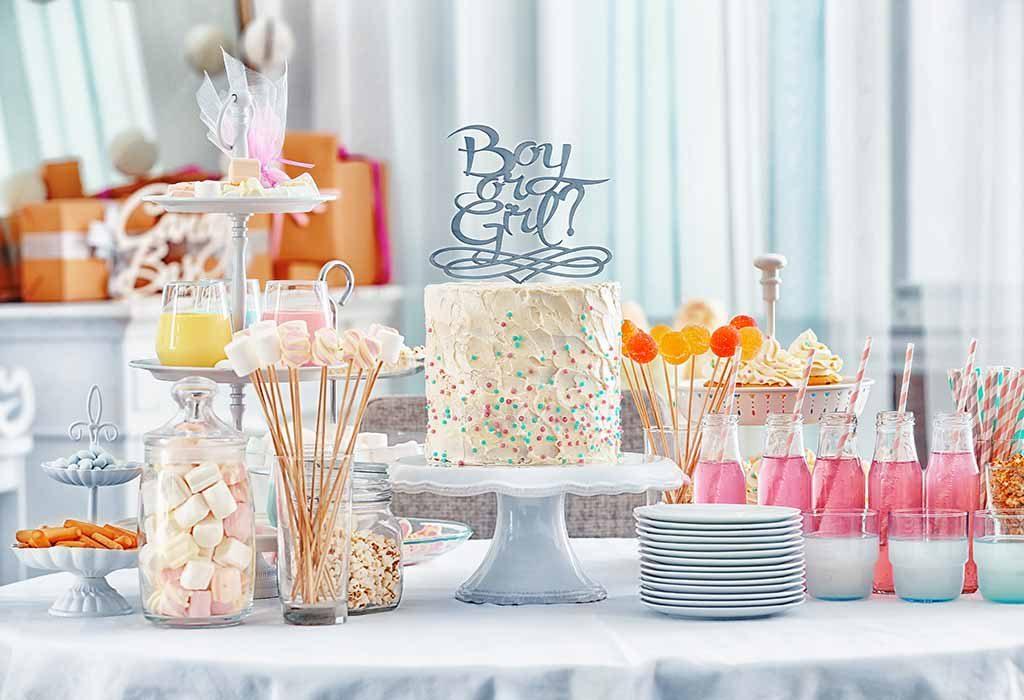 baby shower cake gender-neutral