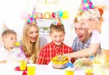 family celebrating brother's birthday