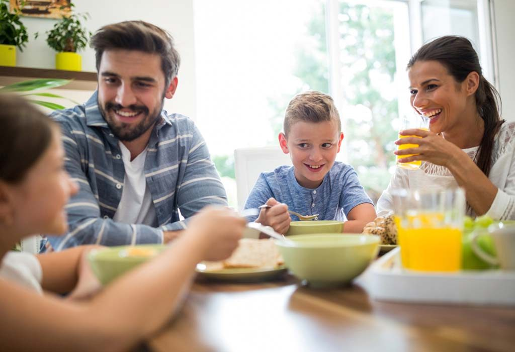 Recommended Eating Pattern for Families With Kids