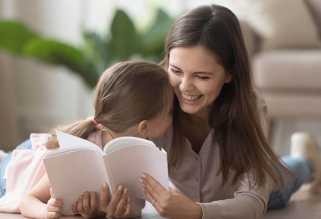 child and nanny reading poems