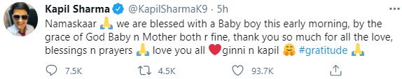 Kapil Sharma baby announcement