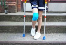 How to help your child learn to stand and walk with crutches