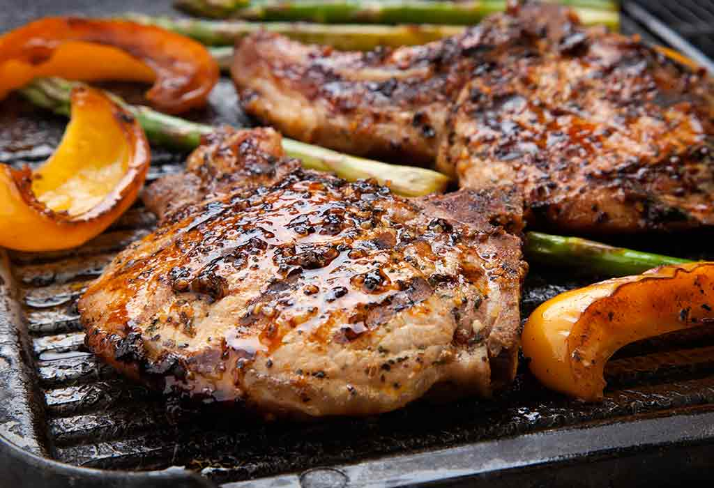Juicy pork chops