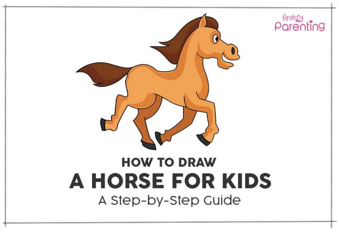 How to draw horse for kids