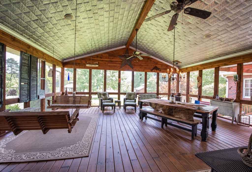 Rustic Interiors Screened Porch