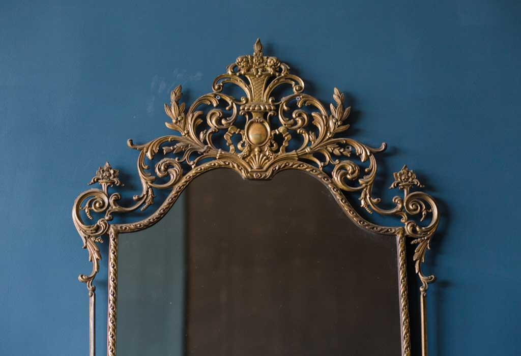 Use Gold Ornate Mirror