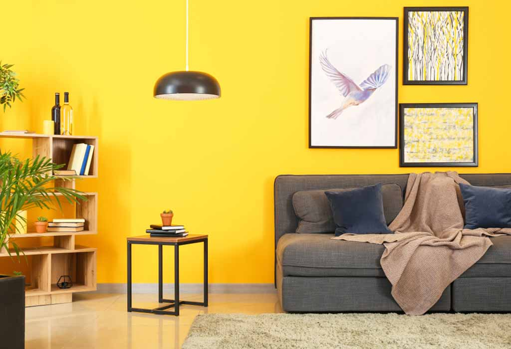 Bright Yellow wall color