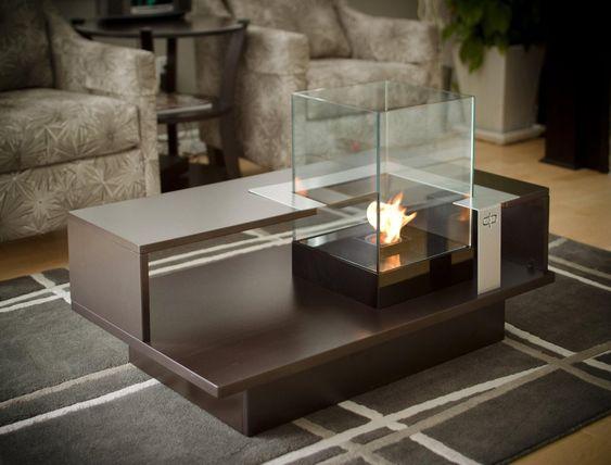Fireplace Coffee Table