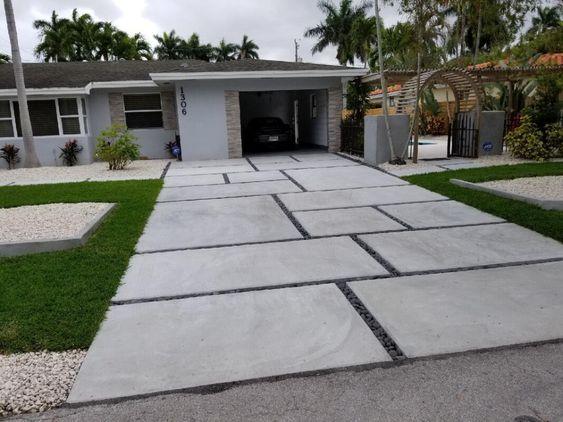 Block Paving Or Pavers Driveway