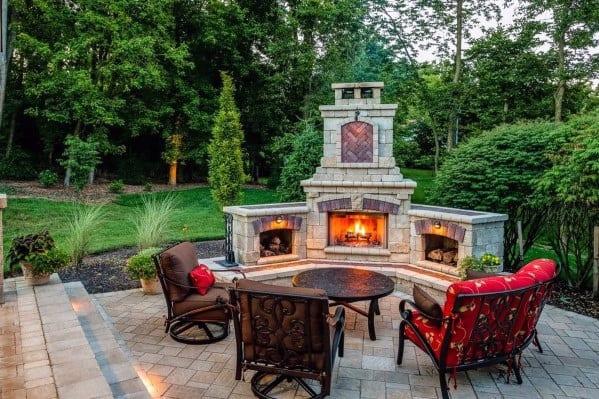 Landscape Fireplace Setting