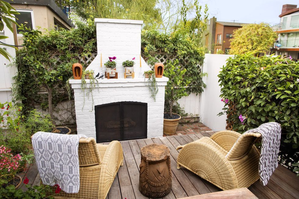 Painted Outdoor Fire Pit