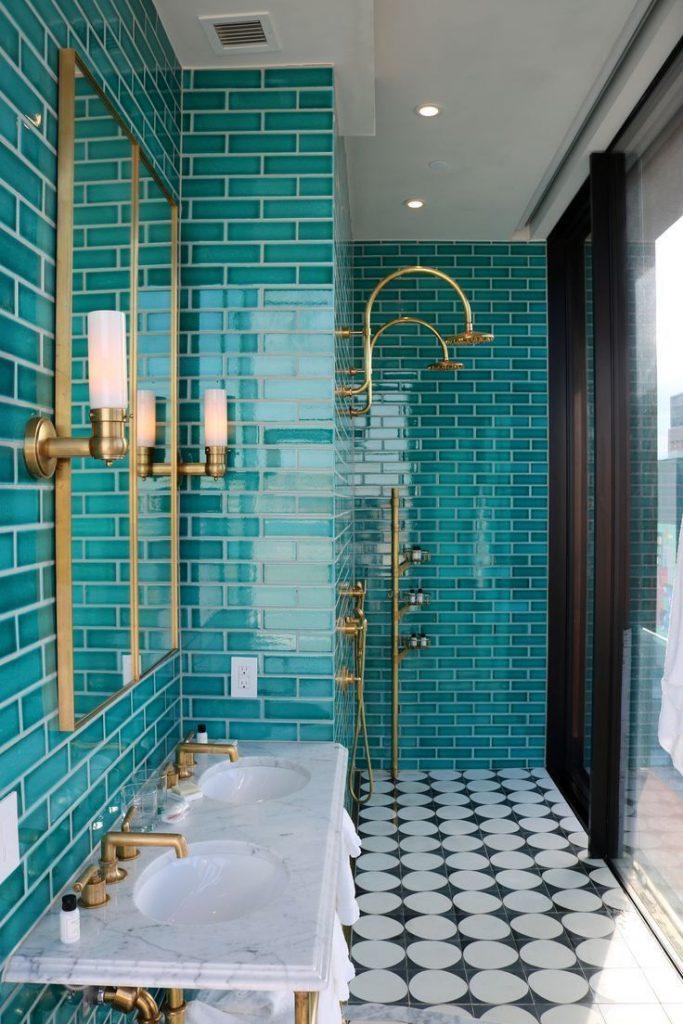 Moroccan-inspired Teal Tile Work Super Glam